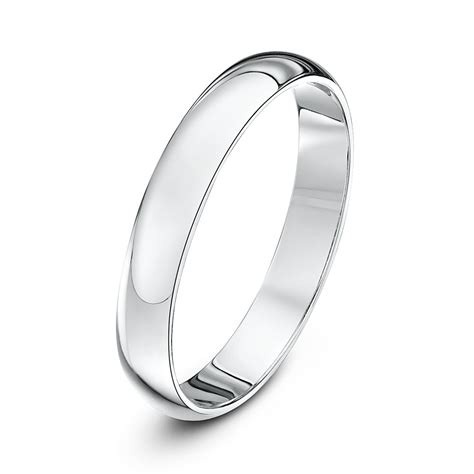 18kt white gold heavy d 3mm wedding ring