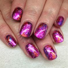 Folie Nägel Lackieren by Gel Nails With Transfer Foils By Melissa Fox