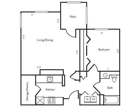 Home Plan Image by Floor Plans Stanford West Apartments