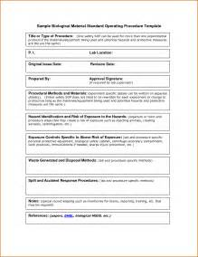standard operating procedures templates 10 standard operating procedure template