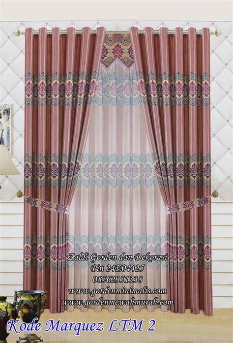 Gordyn Blackout Import New Gordin Gorden 2 tirai gorden jendela minimalis untuk kamar bahan blackout marquez ltm 2 model gorden rumah