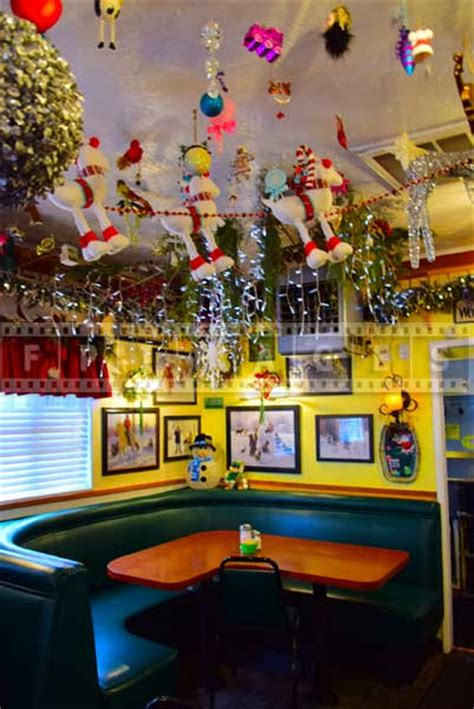 when do christmas decorations go up in washington dc delicious food and colorful decorations at evergreen cafe in wrightwood california