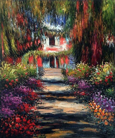 claude monet garten wall monet garden path at giverny painting