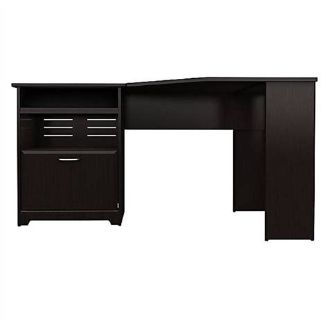 Bush Cabot Corner Computer Desk by Bush Cabot Corner Computer Desk In Espresso Oak Wc31815 03