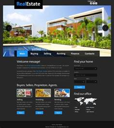 free site templates free website template for real estate with justslider