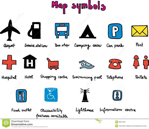 map symbols map symbols clipart