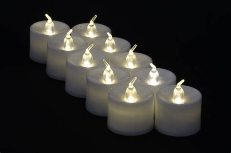 Flameless Candles Large Warm White Led Battery Operated Flameless Candles