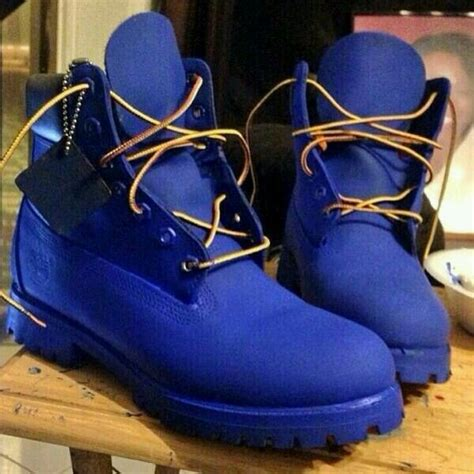 s fashion blue timberland boots