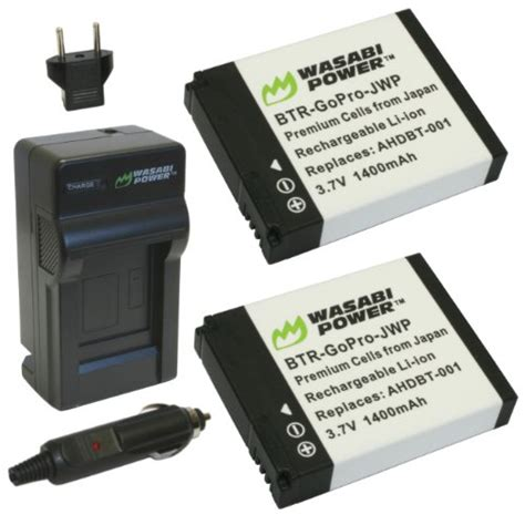 Wasabi Gopro hero2 wasabi power battery 2 pack and charger gopro accessories