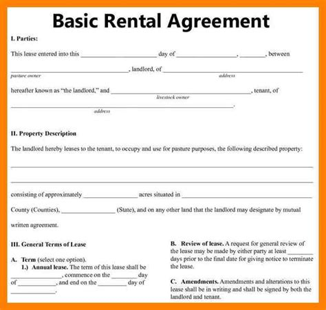Mba Agreement by 8 Free Printable Sle Rental Agreement St
