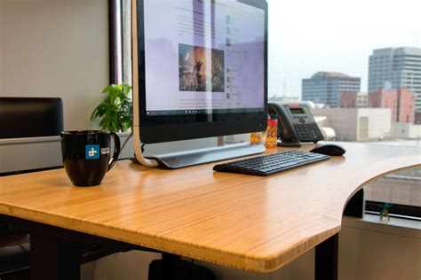 bamboo stand up desk jarvis standing desk review digital trends