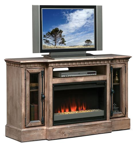 Fireplace Media Stand by Claridge 54 Quot Fireplace Media Stand Gray American Signature Furniture