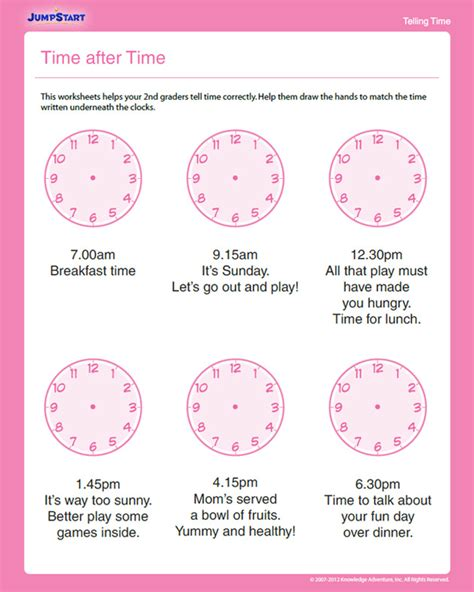 homeschool printable time sheets time after time free time worksheet for 2nd grade