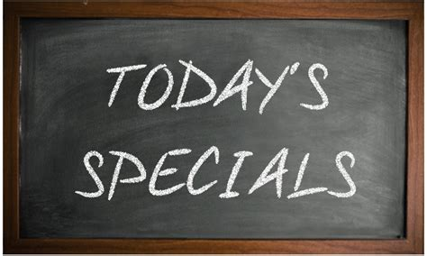 today s special today s specials friday 17th july lion lamb