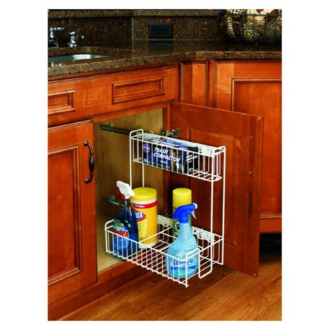 cabinet roll out shelves lowes shop rev a shelf pull out base organizer at lowes