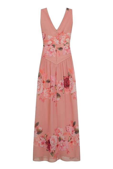 Maxi Pink pink floral maxi dress from uk