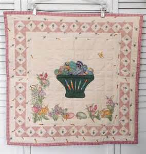 quilt wall hanging wall quilt easter basket beaded
