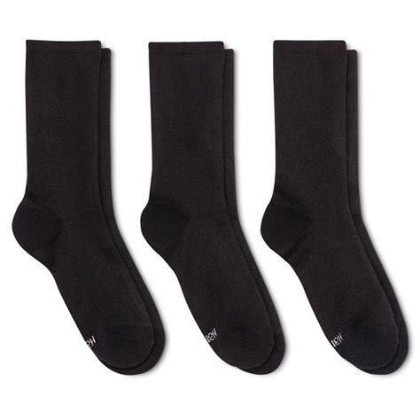 Premium Targets 3 Pack Hanes 174 Premium S Cushioned Crew Socks 3 Pack Black