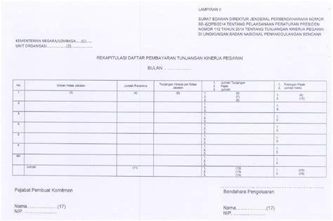 format rekapitulasi daftar hadir pns se 60 pb 2014 pelaksanaan perpres 112 tahun 2014 tunjangan