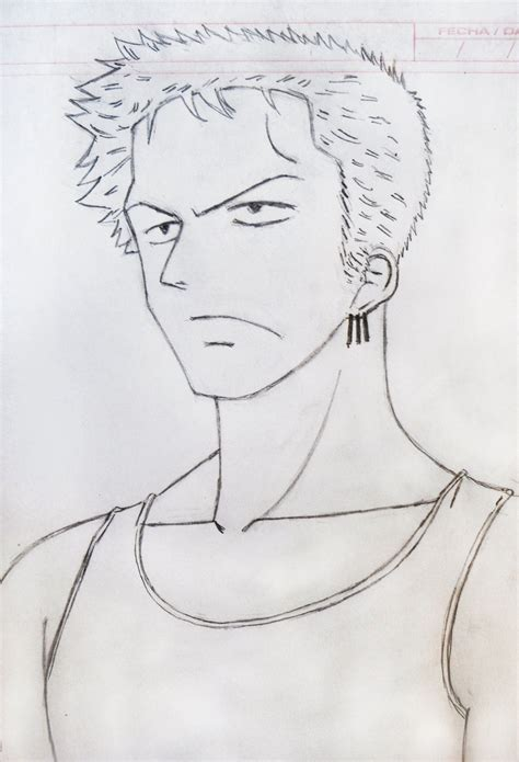 Drawing Zoro by Roronoa Zoro One By Agarest Of War On Deviantart