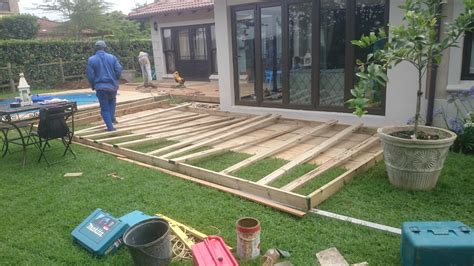 building a patio diy timber decking in durban the wood joint
