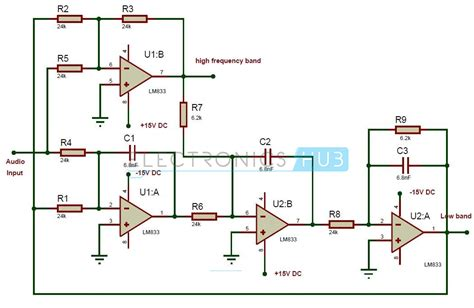 crossover diagram circuit active audio crossover circuit electronic filter circuits