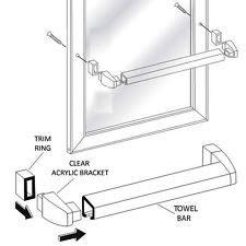 Framed Shower Door Replacement Parts Shower Door Towel Bar Ebay