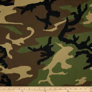 poly cotton twill woodland camouflage brown green black