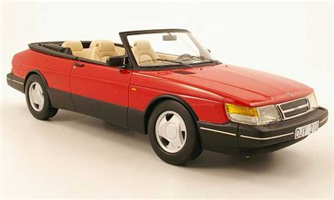 saab convertible red saab 900 convertible red black 1987 neo diecast model car