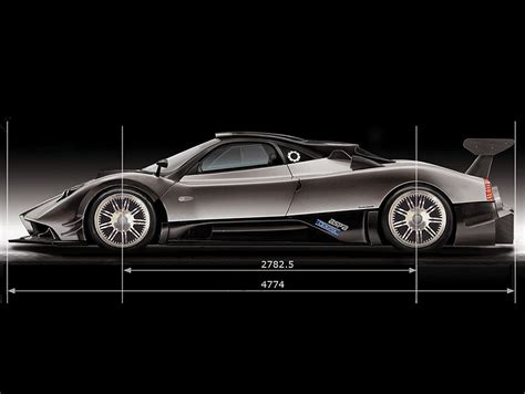 pagani zonda side view pics for gt pagani zonda r side view