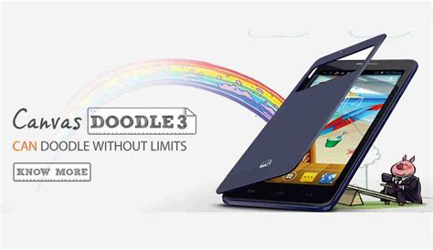 doodle 3 price in india micromax canvas doodle 3 launched for rs 8 500 attractive