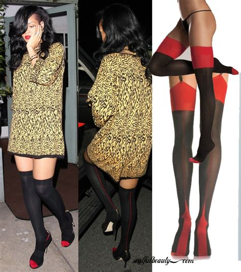 2015 stockings styles celeb style rihanna steps out cuban style in two tone