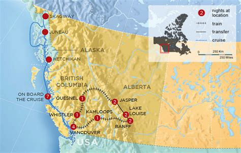 map of canada west coast canada rockies tour west coast canada