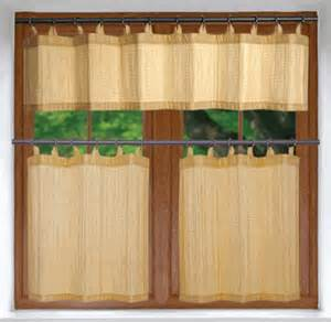Bamboo Kitchen Curtains Kitchen Curtains Versailles Bamboo Kitchen Curtains Or Valance With Curtain Rings Only 33 99