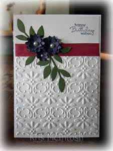 Embossed Birthday Card Ideas Casing Pinterest Sting With Kris