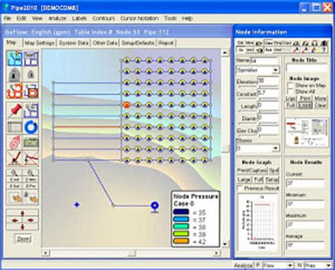 Landscape Irrigation Design Software Free Sprinkler Systems Flow Kypipe
