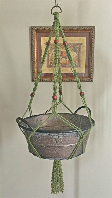 How To Macrame Plant Holder - macrame plant hanger or holder with wooden macrame