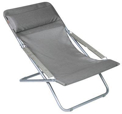chaises longues lafuma chaise longue transabed xl pliable 3 avec