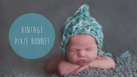 how to knit a pixie hat knitting tutorial fast and easy chunky newborn hat