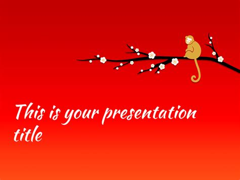 powerpoint templates for new year 2016 free presentation template chinese new year 2016 the monkey