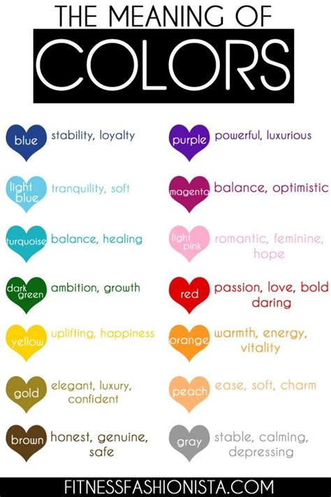 meaning of colors 69 best images about color psychology on pinterest color