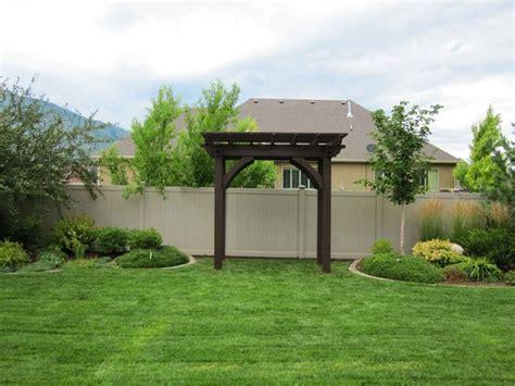 Landscape Timbers Salt Lake City Side Yard Timber Framed Garden Arbor Kit Landscape