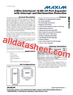 maxim integrated products work environment max7311aag datasheet pdf maxim integrated products