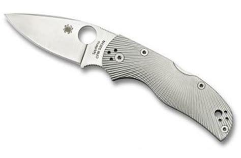 spyderco fluted titanium spyderco native5 fluted titanium clipit edge blade 7in folding knife c41tifp5 40