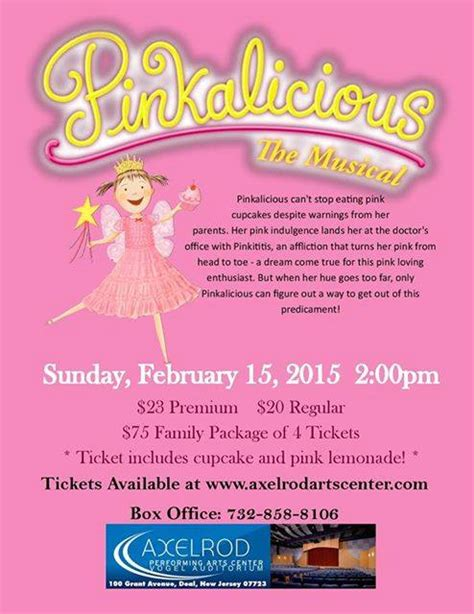 Nj Sweepstakes - pinkalicious nj giveaway 4 tickets njmom