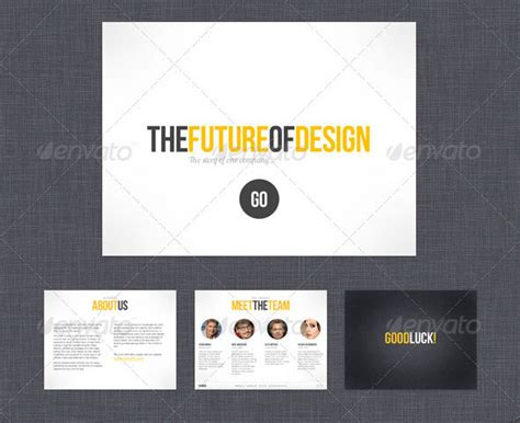 26 minimal presentation templates design freebies