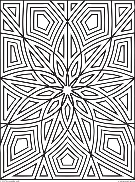 coloring book page designs coloring pages patterns free geometric pattern coloring