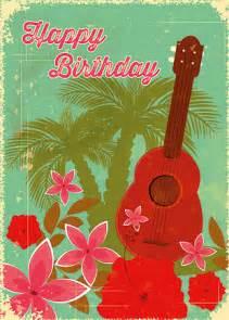 hawaiian happy birthday greeting card hawaiian birthday ukulele elfivetrov islandartstore