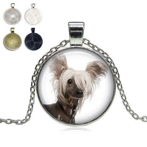 top pet gifts chinese crested glass dome necklace top pet gifts