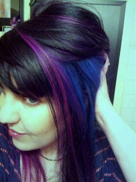 color blocking hair color block hair new elumen blue pink purple hair